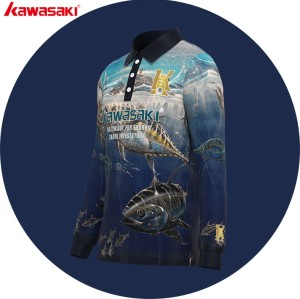 Digital sublimated uv tournament fishing jersey