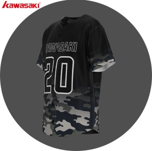 OEM custom fashion gradient baseball jersey