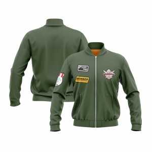 KAWASAKI Own Design Olive Green Men's Baseball Jackets | Custom Team Jackets | Design Personalized Sports Jackets