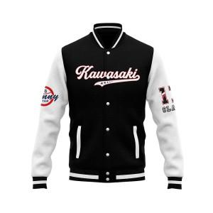KAWASAKI Own Design Letterman Baseball Jackets   Custom Letterman Jackets