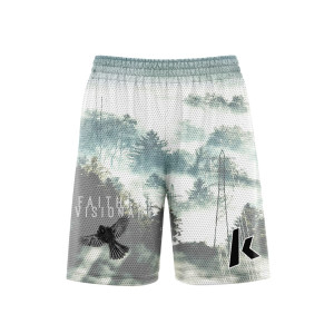 Men's sports mesh basketball shorts custom design pattern logo
