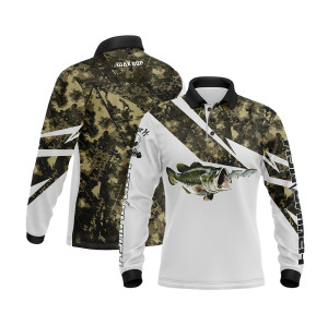 Custom Quick-dry UV Protection Men's Sublimation Long Sleeve Fishing Wear