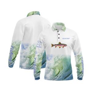 Long Sleeve Fishing Jersey Sublimation Printing Fishing Jersey