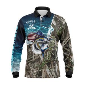 Own Design Fishing Shirts Hot Sell Custom Long Sleeve Fishing Jersey