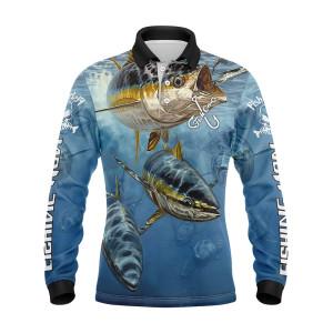 Wholesale Custom Design Fishing Jersey Long Sleeve Breathable Outdoor Fishing Wear