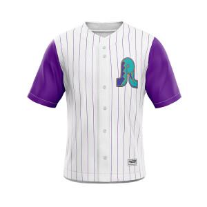 Wholesale custom sublimation digital printing men's baseball jersey