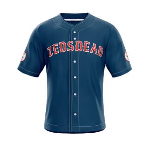 Customize embroidery baseball jersey shirt wholesale sublimation print baseball jersey