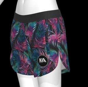Custom womens woven beach shorts