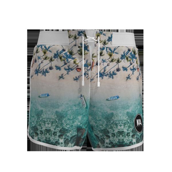 Custom mens woven beach shorts