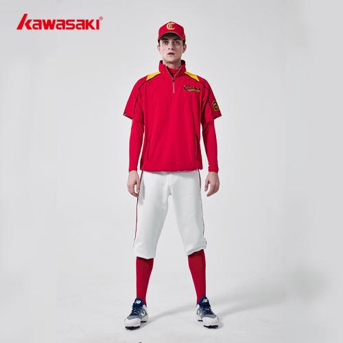Custom Short Sleeve Red Baseball shirts