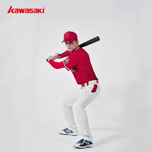 Custom Short Sleeve Red Baseball T-shirts