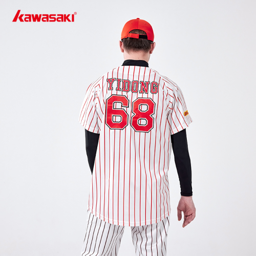 Custom Red Baseball Strip T-shirts