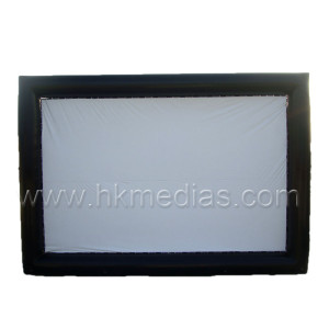 Inflatable film screen