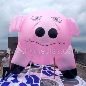 Inflatable pig balloon