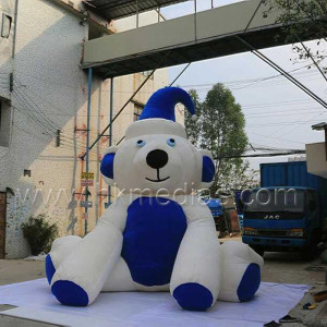 Inflatable push bear