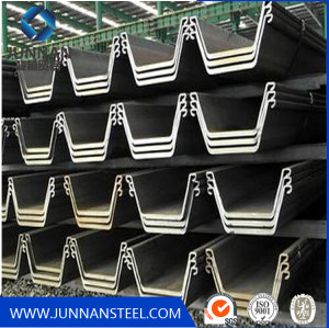 hot sale  hot rolled steel sheet pile used for docks