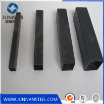 ms black square steel pipe and  rectanglular steel pipe weight