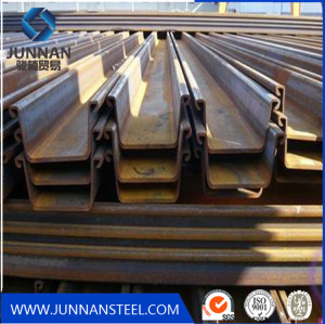 Tangshan supply retaining wall u shape steel sheet pile size