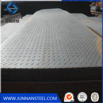 Tangshan low price diamond steel plate in stock