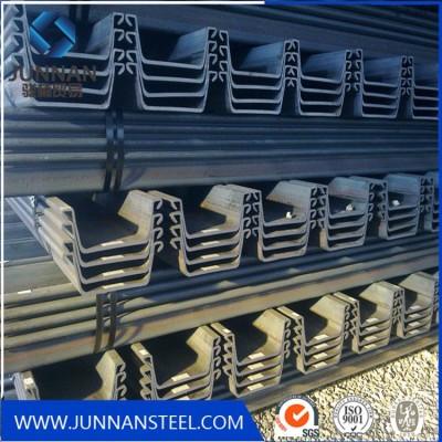 SY295 u type steel steel sheet pile for building harbor