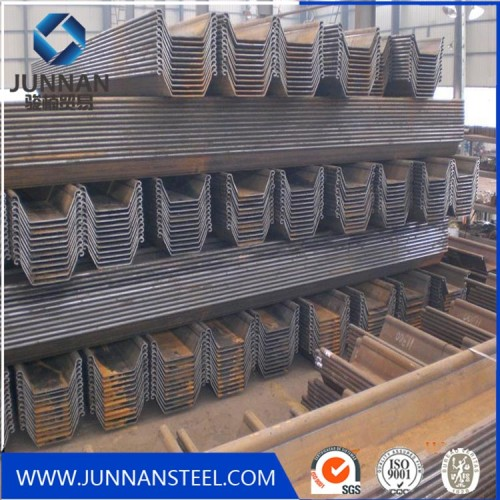 SY295 u type steel steel sheet pile for building harbor