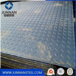 SS 400 q235 Chequered steel Floor Plate, Mild steel checker plate