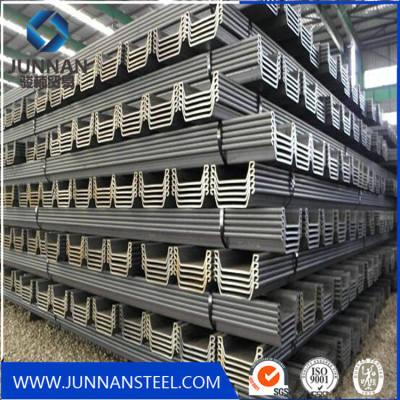 U steel sheet piles supplier with ASTM Gr50, S355JR, U sheet piling for AU24,AU 19, AU 26