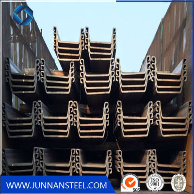 6m 12m Hot Rolled Steel Sheet Piles for building harbor