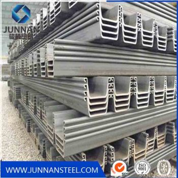 SY295 hot rolled U type Steel Sheet Pile for building structure
