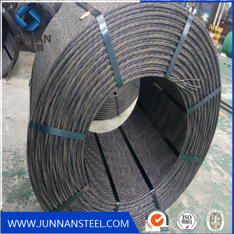 steel wire rod for prestressing concrete strand/pc strand for exported/12.7mm pc strand supplier