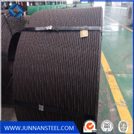 12.7mm 1*7 wire pc steel strand wire for Bangladesh market