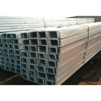 What are the characteristics of galvanized channel steel?
