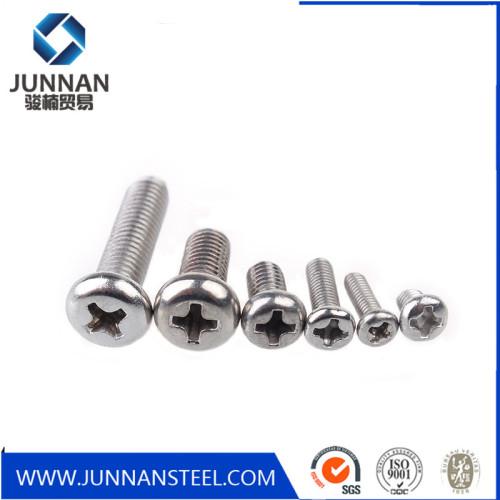 M2*6 Flat head cross carbon steel micro screw with nylon patch