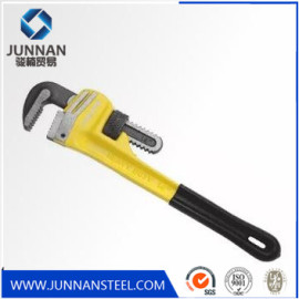 Satin chrome plated carbon Steel Heavy Duty Pipe Wrench