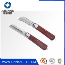 mini pocket knife Small Camping Hunting steel Blade Foldable Wooden Pocket Knife