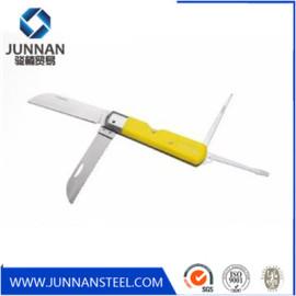 Stainless steel housing aluminum handle utility folding knife case