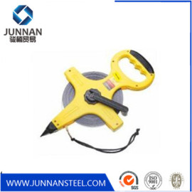 High quality ABS Case Fiberglass Tape Measure and retractable fiberglass measure tape with open reel construction tools