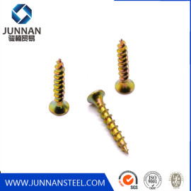 Phil Driver Countersunk Head Self Tapping Yellow Zinc Plated Furniture Chipboard Screw