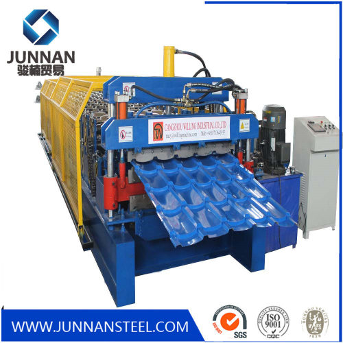 High quality glazed tile IBR sheet double layer trapezoidal roof press making machine roll forming machinery