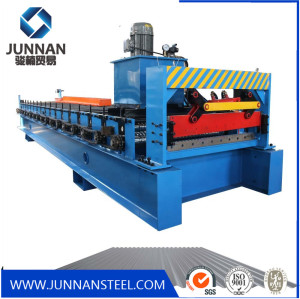 Corrugated Roof Tile Metal Sheet Roll Forming Machine in Tile Making Machinery