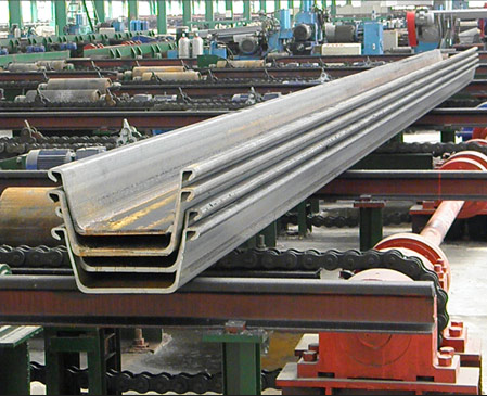 steel sheet pile machine