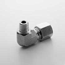 8L SS304 Male Elbow Hydraulic Coupling Fitting Single Ferrule