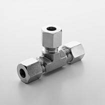 6L SS316 Hydraulic Ferrule Equal Union Tee