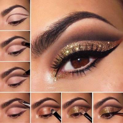 Private label cosmetic makeup eye shadow fashion shining arabic eye shadow