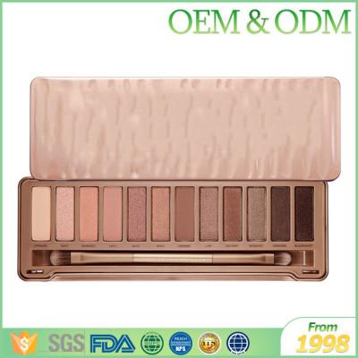 Hot selling portable 12 color shining shadow eye makeup eye shadow palette