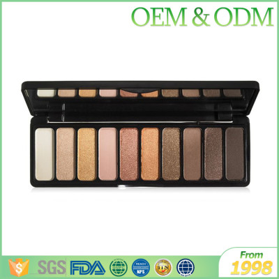 Professional 10 color eye shadow women beauty shining shadow eye makeup