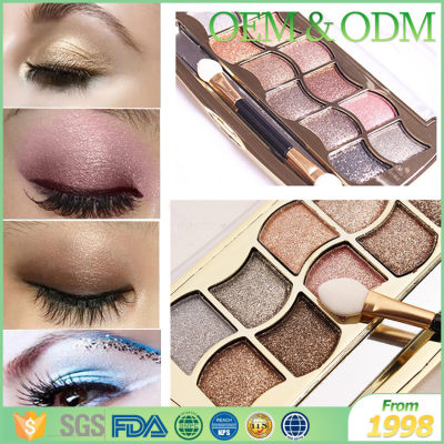 Private label cosmetic makeup eye shadow fashion shining arabic eye shadow