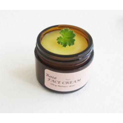 Rose Geranium Face Cream for Dry-Mature Skin,Shea Butter, Vitamin E