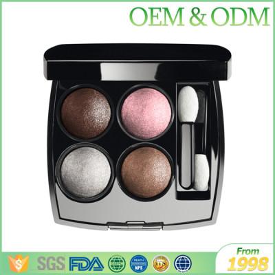 Four colors  eyeshadow eye shadow palette natural shining eye shadow