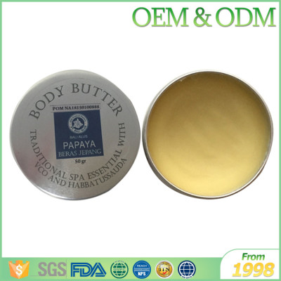 Private label effective natural body cream skin care butter wholesale body butter